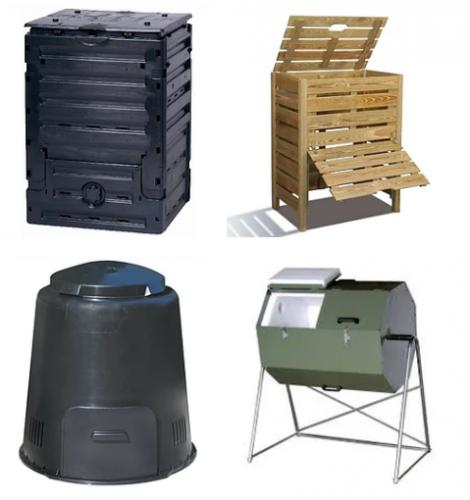 Image 1 -- Types de composteurs domestiques