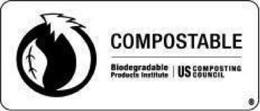 Logo certification compostable