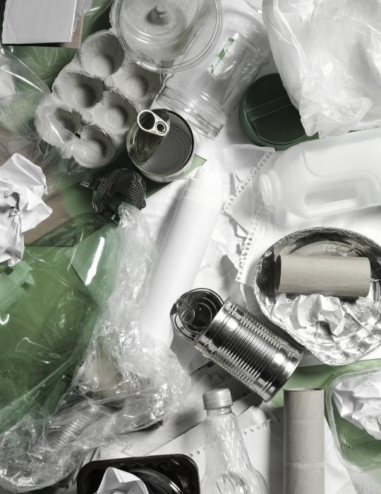 Différentes matières recyclables