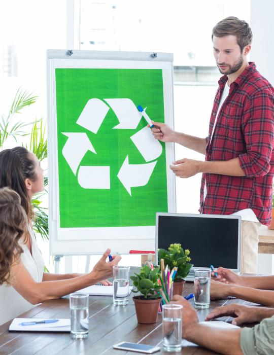 Recyclage au bureau