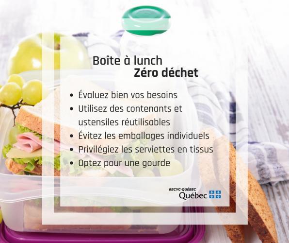Boite à lunch zéro déchet