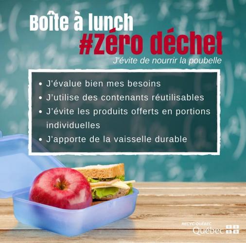 Image de trucs pour une boîte à lunch zéro déchet
