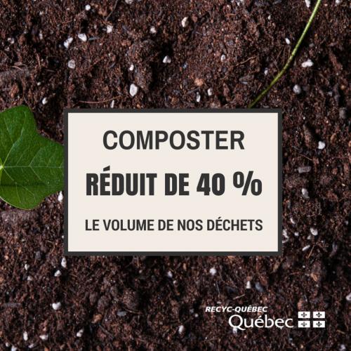 Composter réduit de 40 % le volume de vos déchets